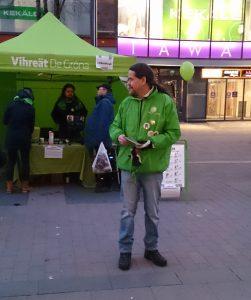 Vihreiden teltalla eduskuntavaalit 2015